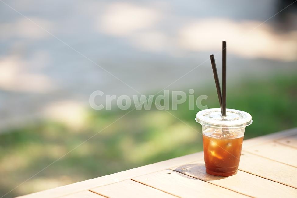 커피, 아메리카노, 음료, 디저트, 후식