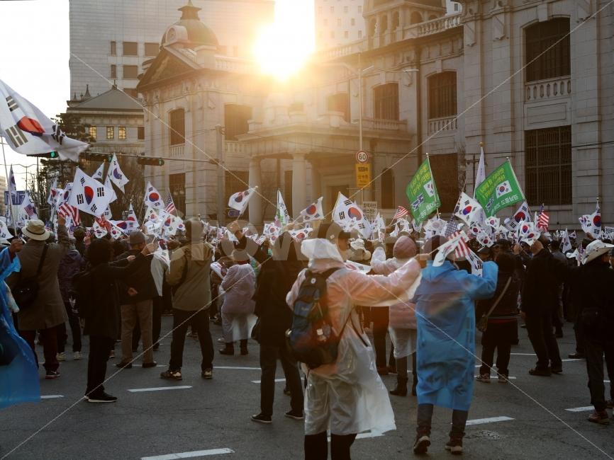 집회, 시위, 태극기, 박근혜, 최순실