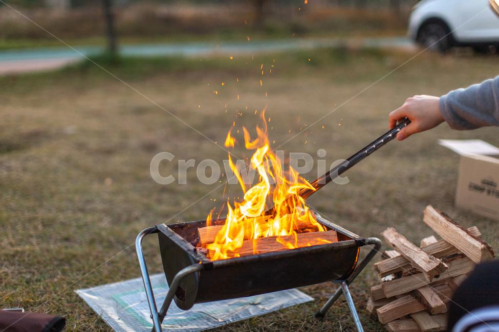화로대, 장작, 장작불, 캠핑, 불멍