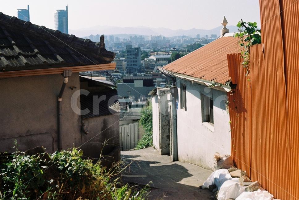 옛날, 동네, 대전, 집, 주택