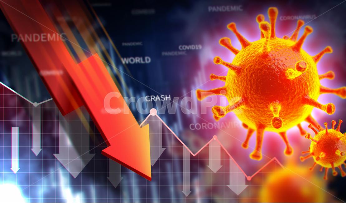 코로나바이러스, 주식시장, 하락, 주식, 그래프