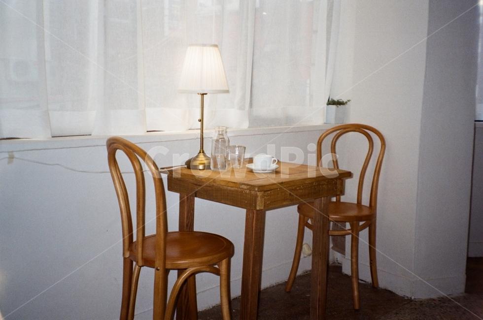 카페, 테이블, 식탁, 커피, 부산
