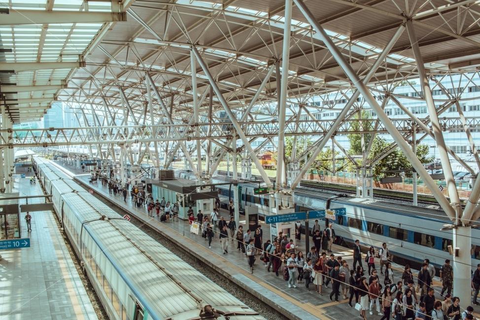 首尔站火车月台