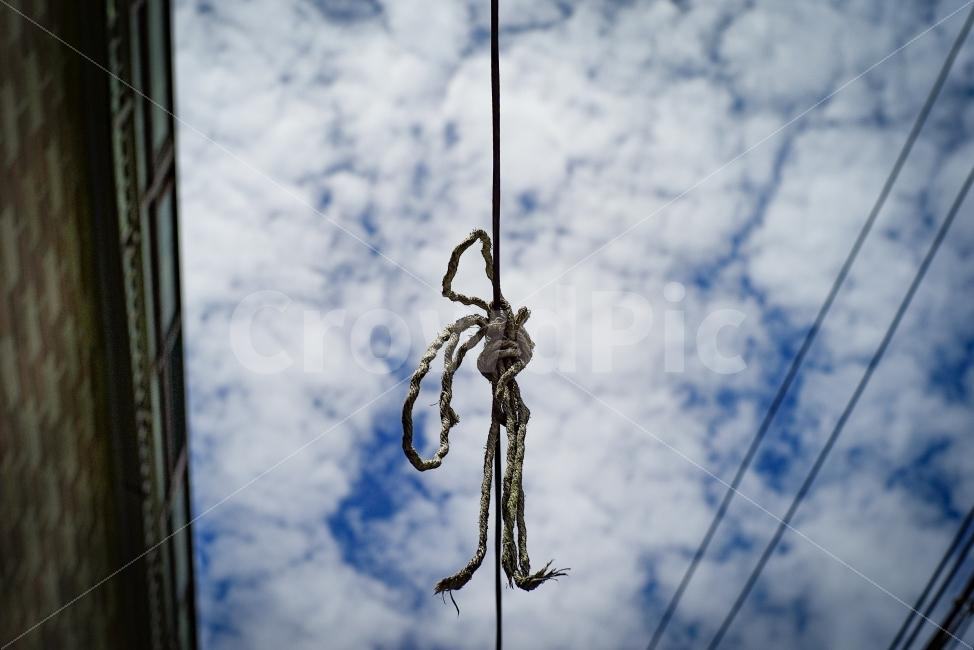 끈, 매듭, 하늘, 희망, 좋으날