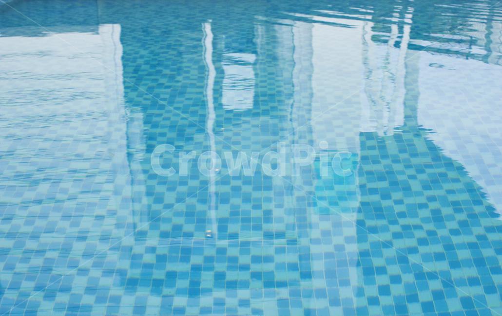 풀장, 야외수영장, 파랑, 블루, 파란색