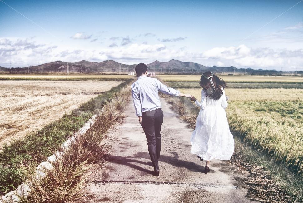 웨딩, 셀프, 가을, 결혼, 스냅