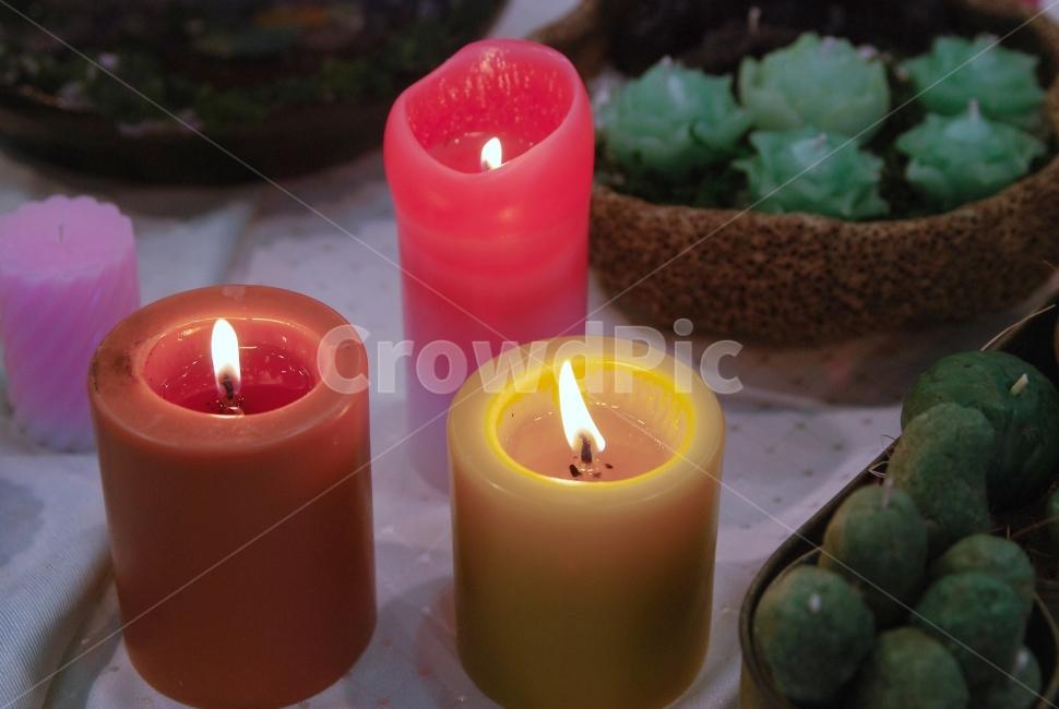 초, 촛불, 분위기, 캔들, 불빛