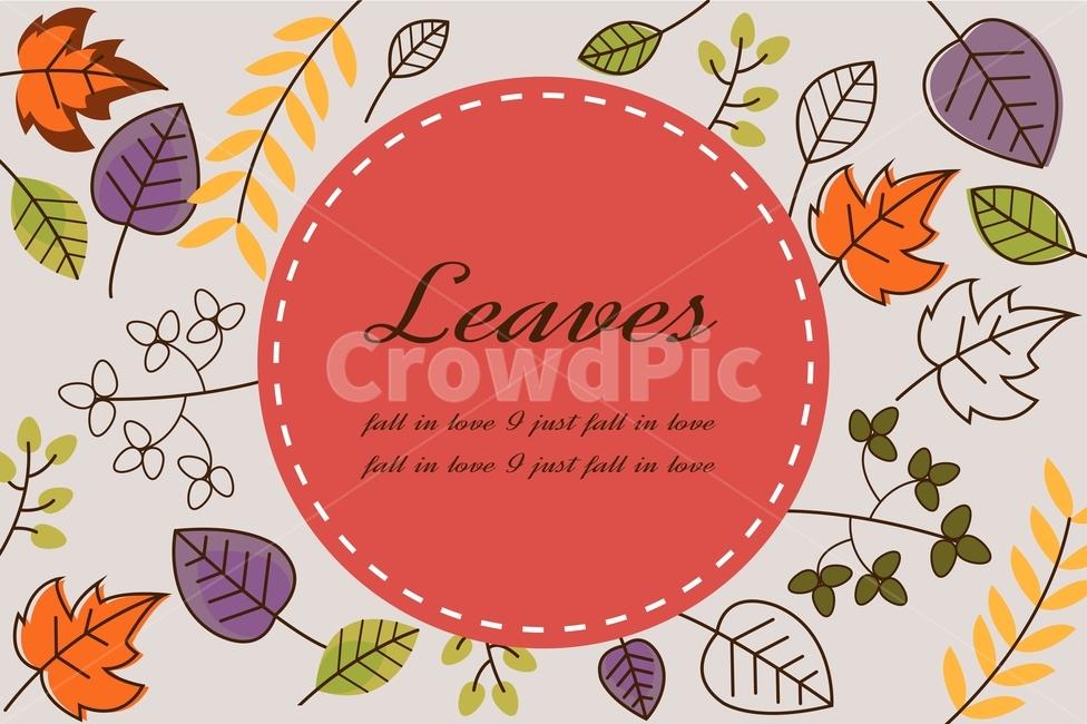 단풍잎, 낙엽, 가을, 라인일러스트, 프레임