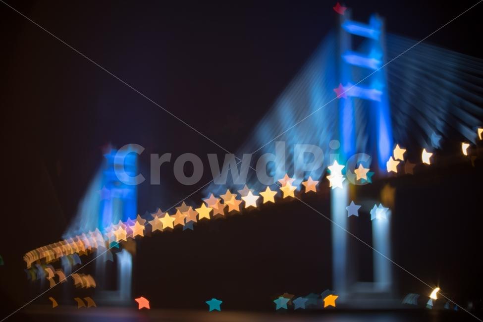 별, 별빛, 빛망울, 보케, 야경
