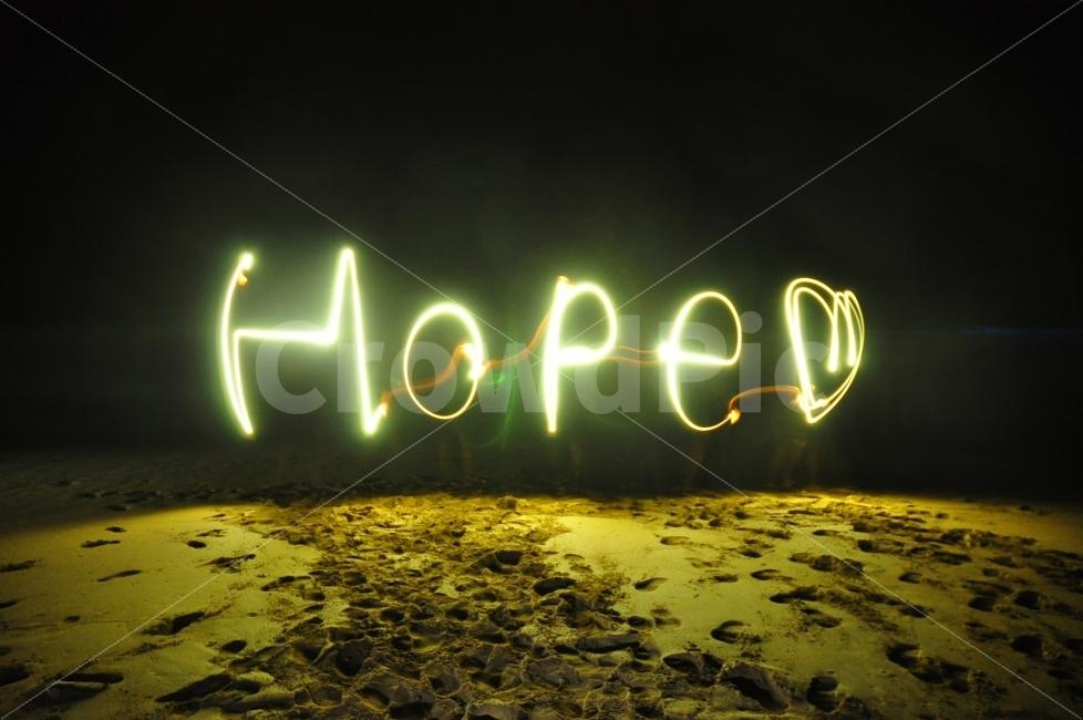 바다, 해변, 밤, 빛, 희망