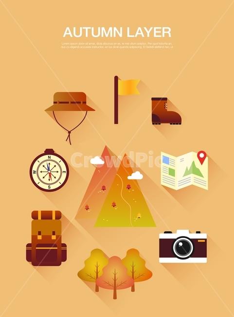 가을, 레이어, 가을레이어, 일러스트, 이미지