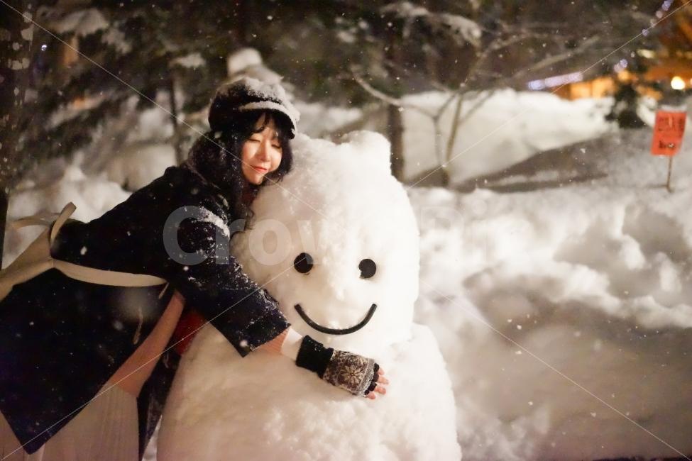 일본, 홋카이도, 후라노, 닝구르테라스, 겨울
