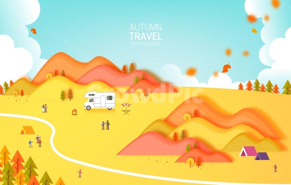 가을, 여행, 단풍, 소풍, 나들이