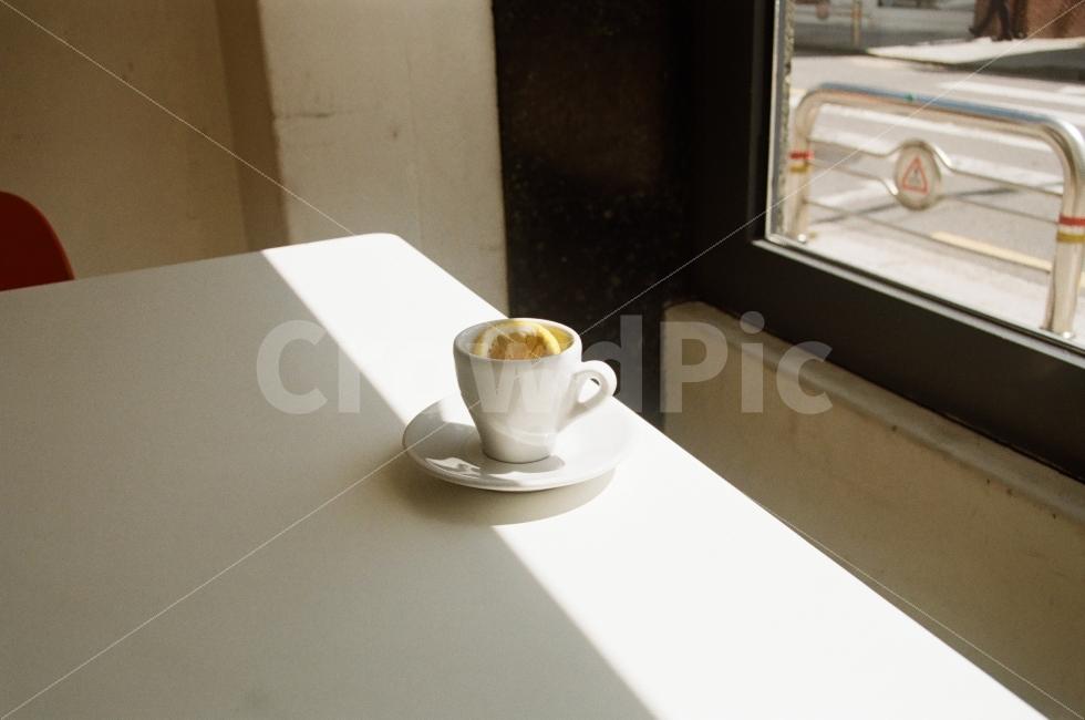커피, 에스프레소, 카페, 햇빛, 커피잔