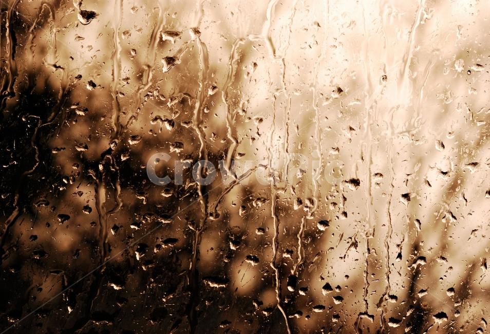 감성, 추상, 빗물, 유리창, 봄비
