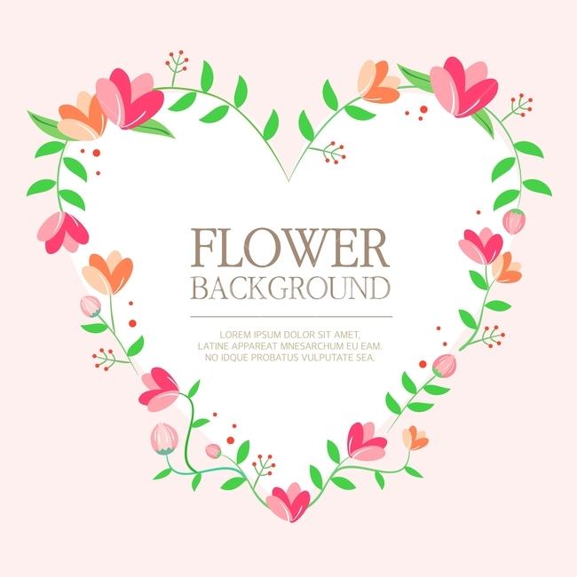 꽃, 봄, 프레임, 표지, 전단지