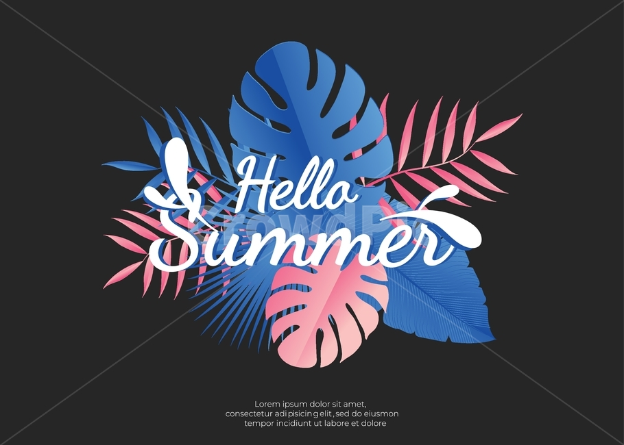 여름, 여름철, 배경, 포스터, 웹사이트