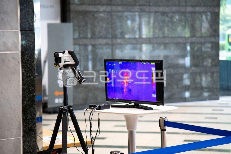 카메라, 열화상, 측정, 체온, 측정장비