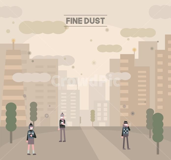 먼지, 미세먼지, 공업, 피해, 중국