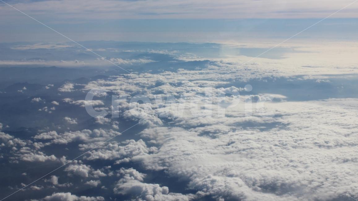 하늘, 구름, 날씨, 비행, 상공