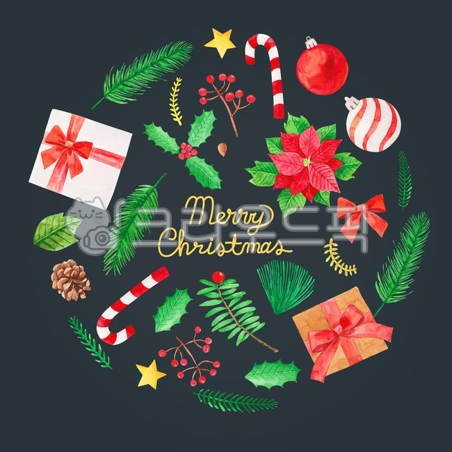배경, 백그라운드, 크리스마스, 성탄절, 수채화