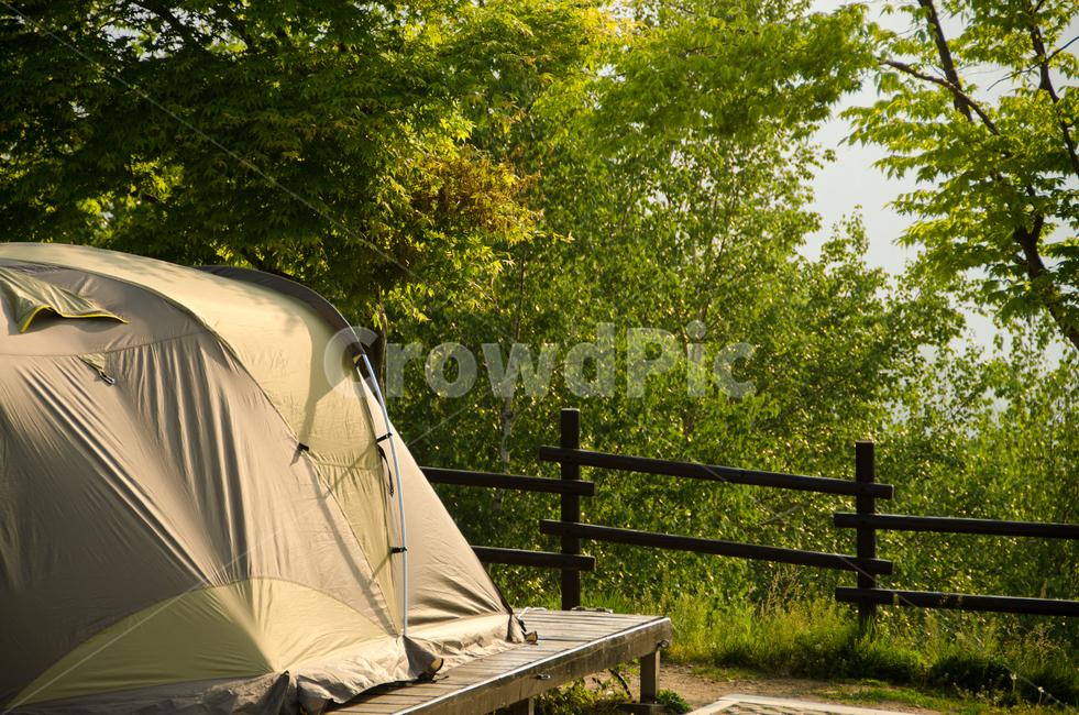 캠핑장, 캠핑, 텐트, 자연, 휴식