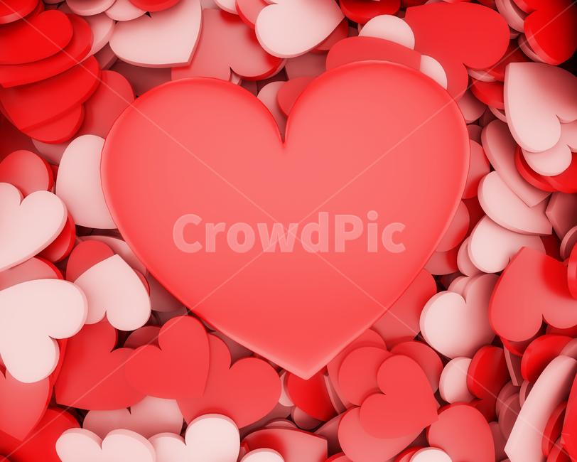 발렌타인데이, 하트, 커플, 쇼핑, 사랑