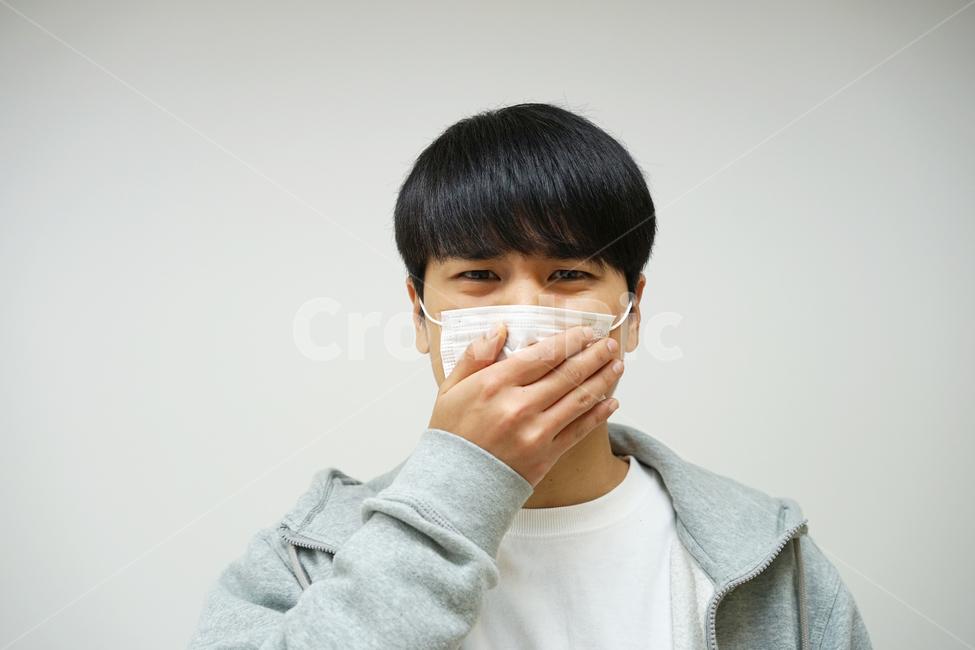 바이러스, 기관지, 호흡기, 남성, 남자