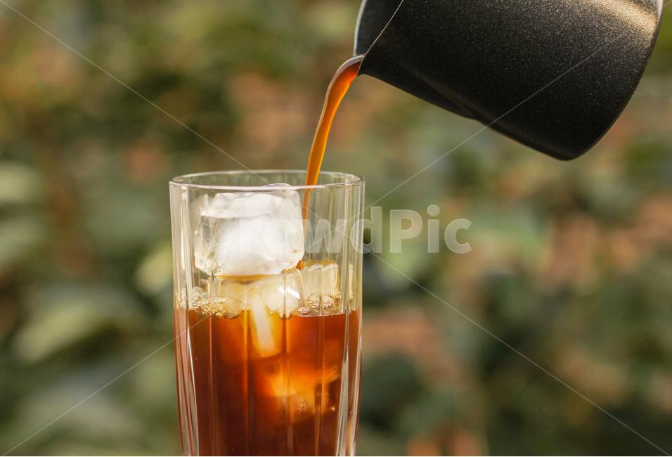 아이스커피, 아메리카노, 커피, 커피잔, 차가운