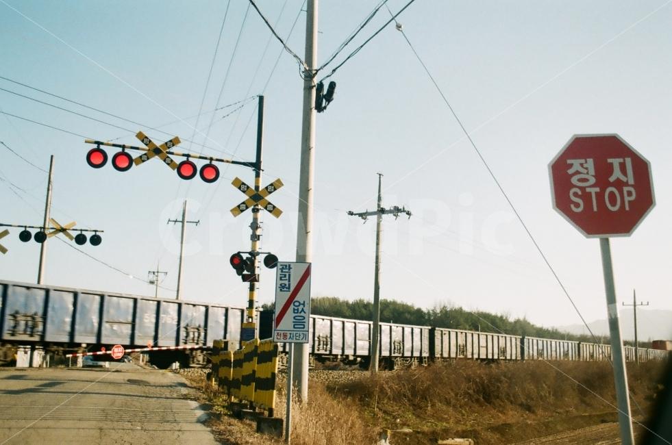 기차길, 기찻길, 기차, 철도, 필름사진