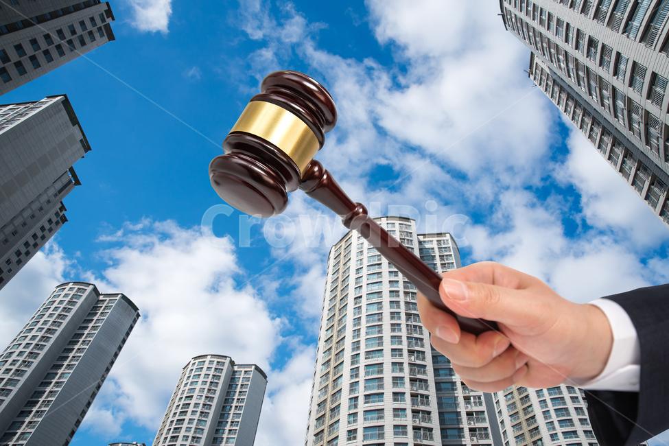 부동산, 경매, 법봉, 의사봉, 법관망치