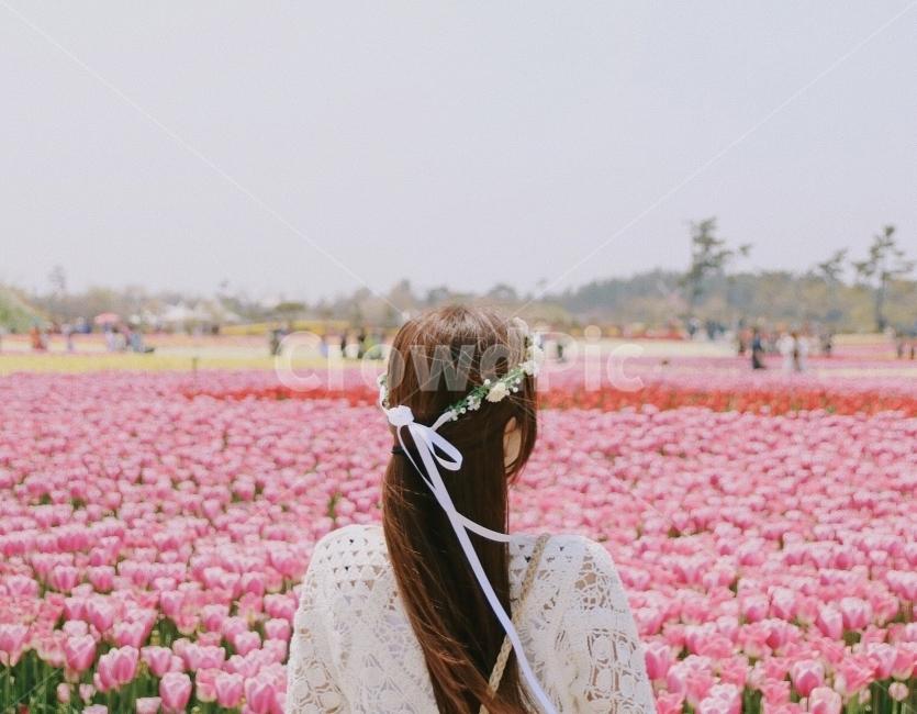 튤립, 튤립축제, 인물사진, 꽃, 꽃축제
