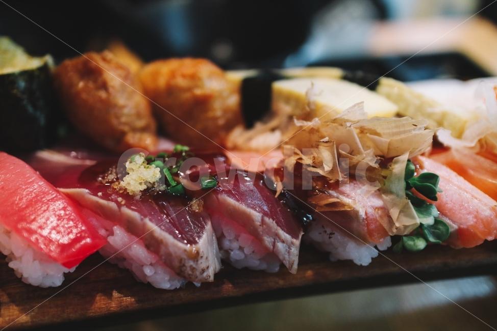 초밥, 생선회, 생선, 바다, 바닷가