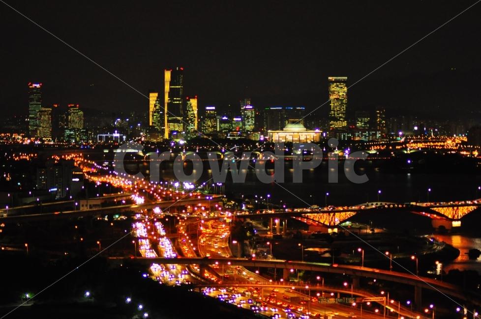 상암동, 하늘공원, 밤, 야경, 국회의사당