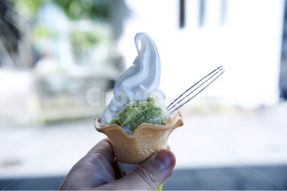 아이스크림, 와샤비, 고추냉이, 소프트아이스크림, 여름
