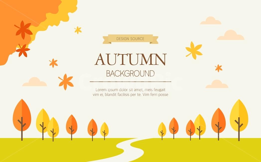 단풍, 낙엽, 일러스트, 배경, 백그라운드