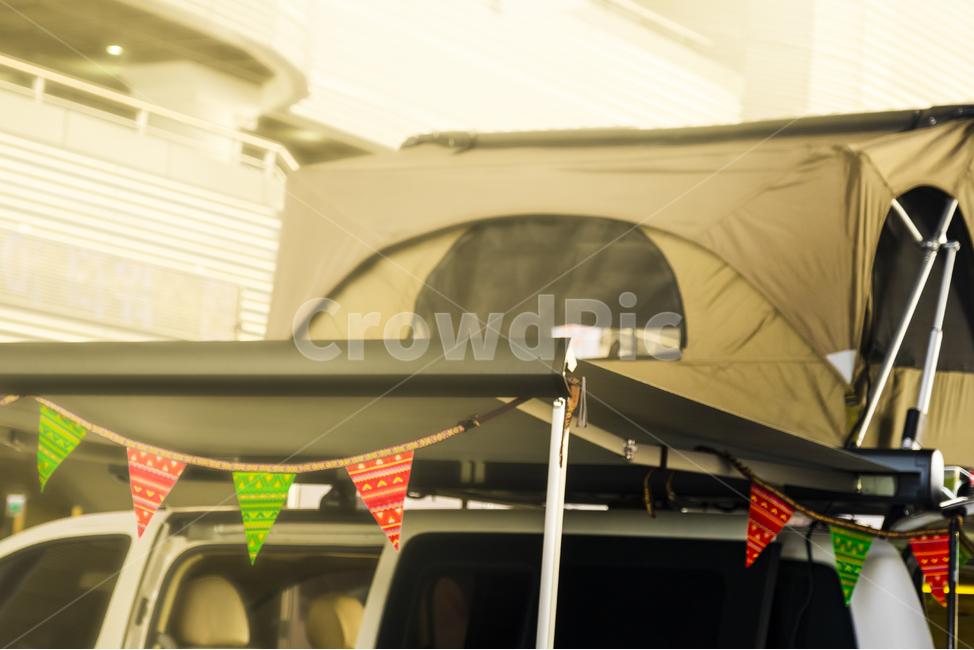 캠핑, 캠핑카, 텐트, 루프탑텐트, 루프탑
