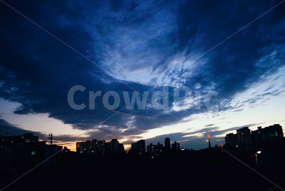 하늘, 도시풍경, 풍경, 구름, 동네사진