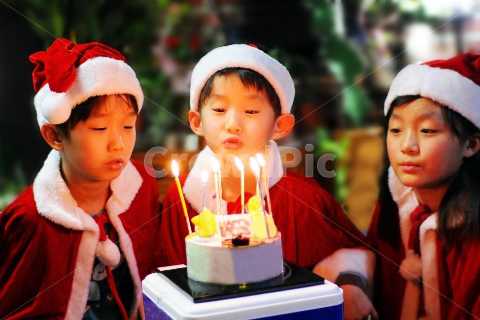아이, 소년, 아동, 크리스마스, 축하