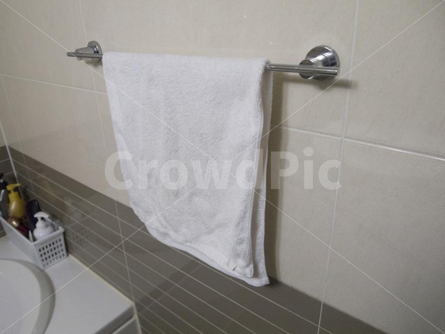 수건, 화장실, 젖은수건, 걸레, 손