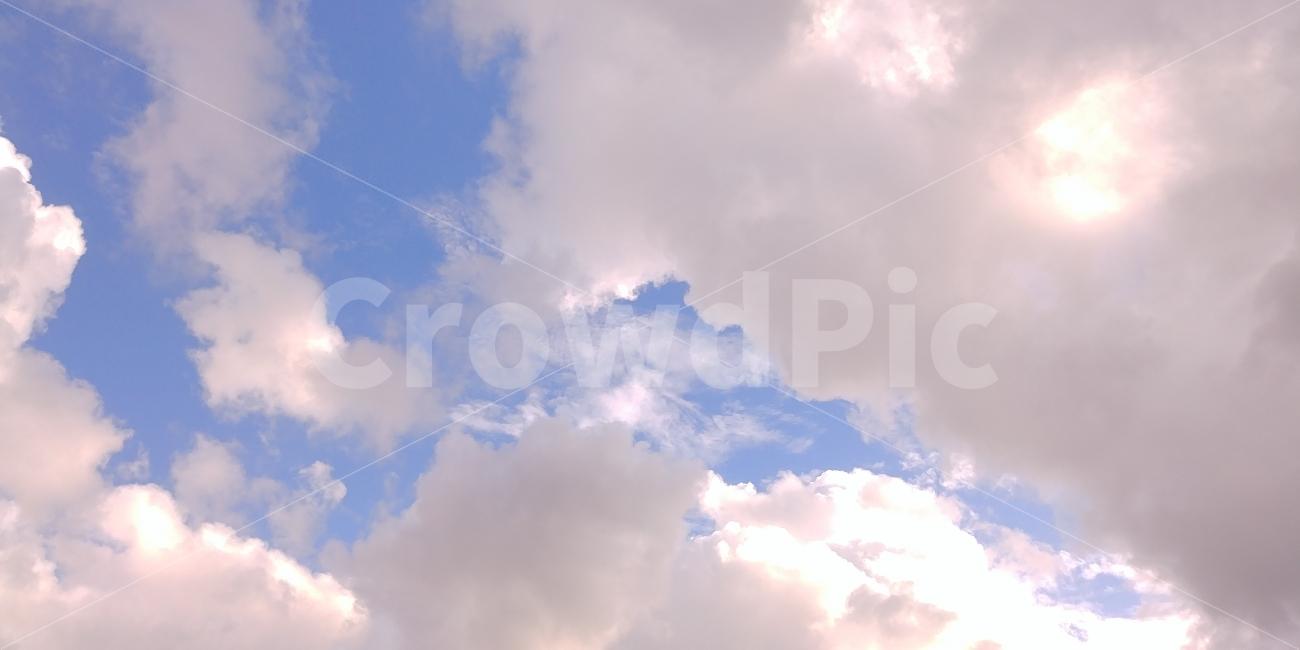 하늘, 구름, 날씨, 배경, 가을