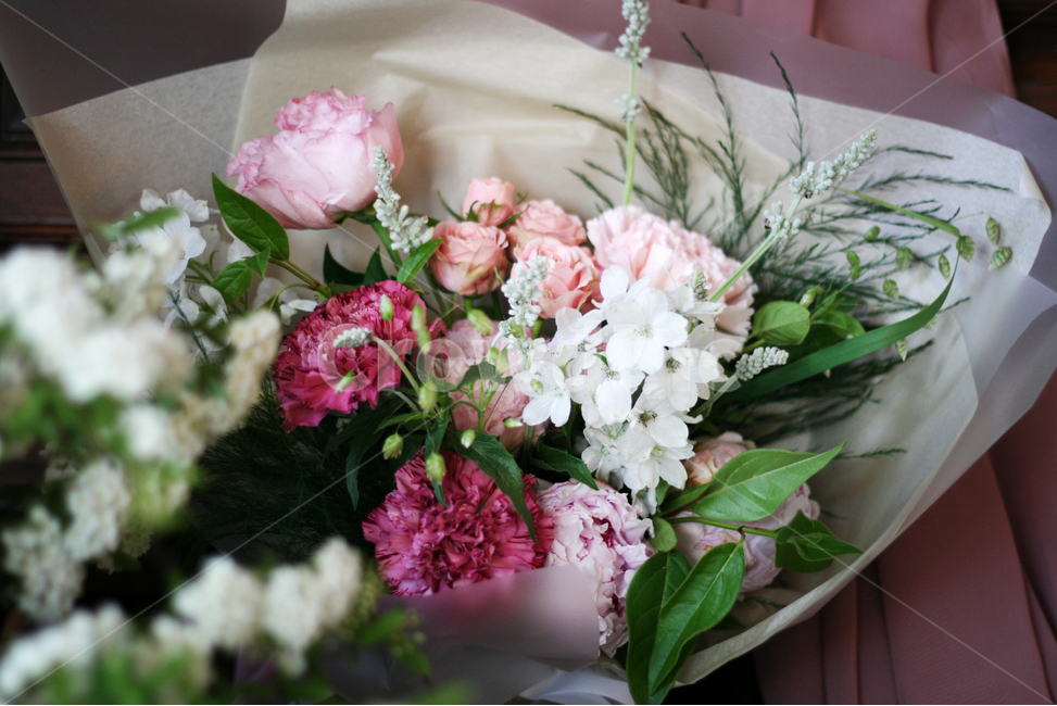 꽃, 봄, 카페, 화사한, 다채로운
