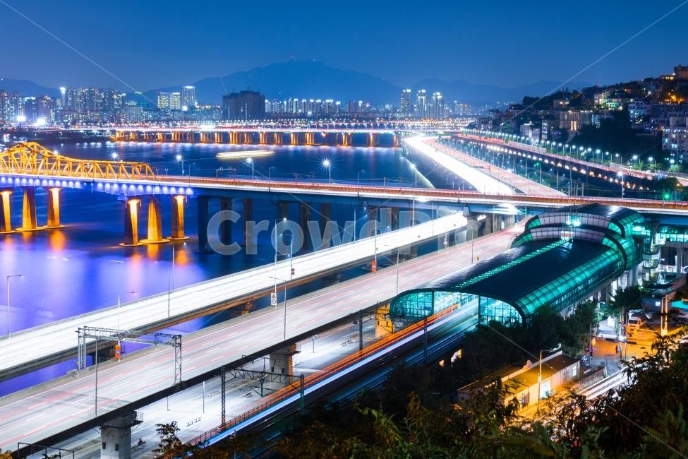 야경, 서울야경, 한강, 한강야경, 한강다리
