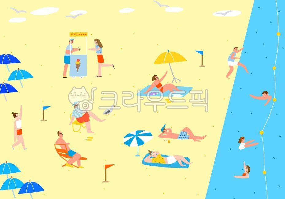 해변, 바다여행, 바다, 여행, 피크닉