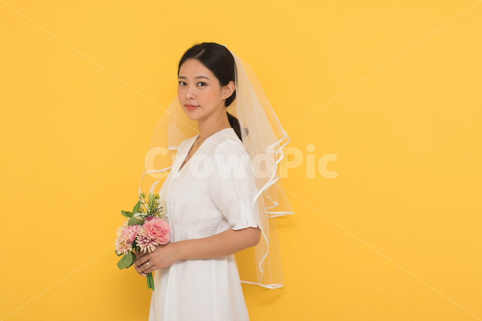 결혼하는여자, 신부, 웨딩촬영, 면사포여자, 스몰웨딩