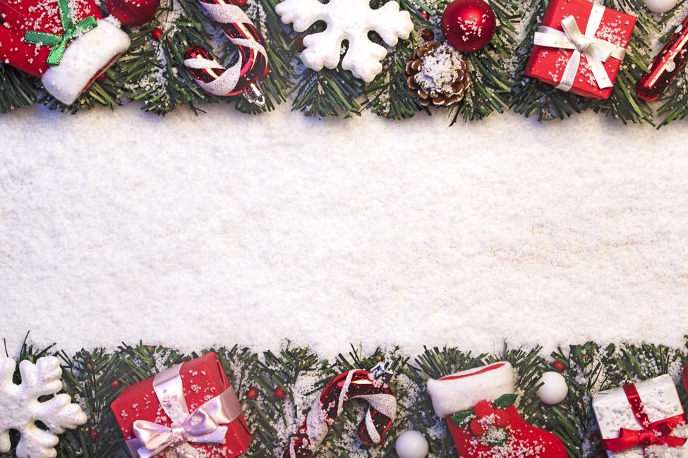 눈, 솔방울, 선물상자, 산타양말, 양말