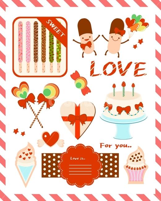 빼빼로, 사탕, 케이크, 머핀, 선물
