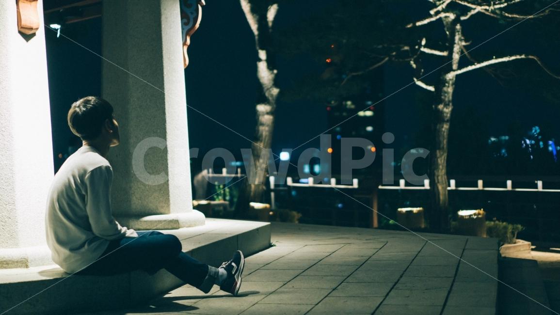 인물, 밤, 야경, 필름, 사람