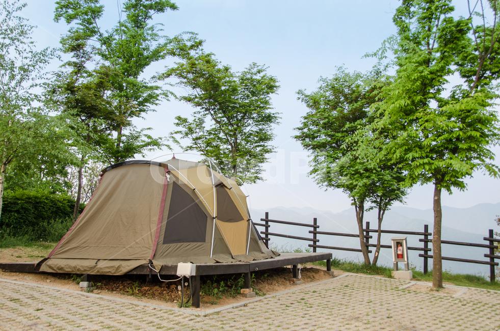 텐트, 캠핑, 캠핑장, 자연, 힐링