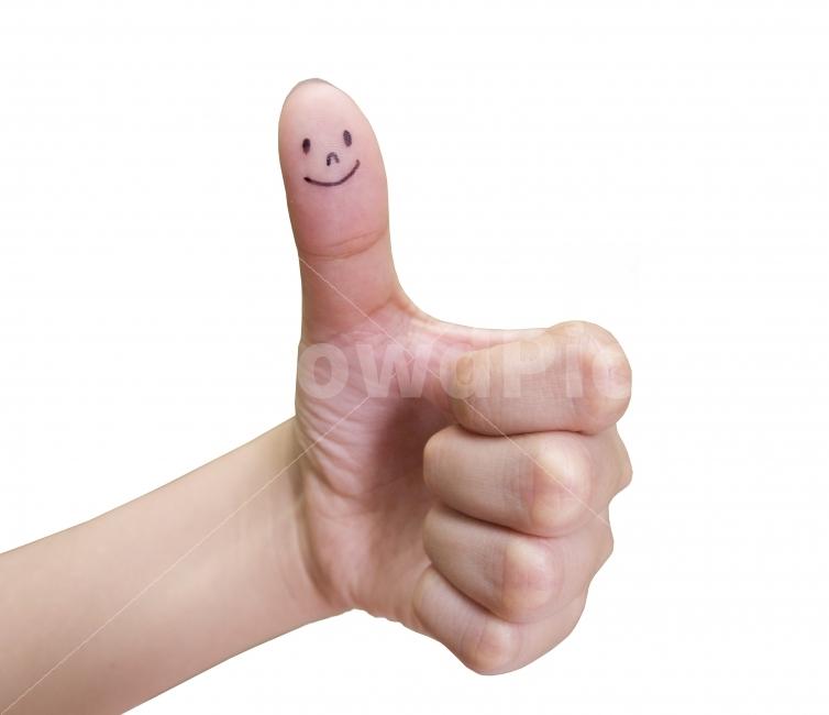 손, 엄지, 감정, 웃음, 승인